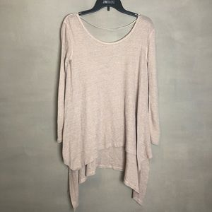 We the Free blush oversized top XS